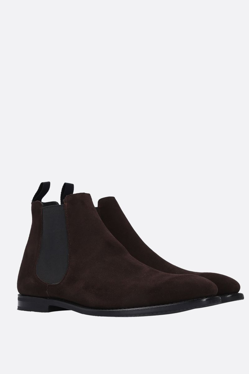 CHURCH'S: Prenton soft suede chelsea boots Color Brown_2
