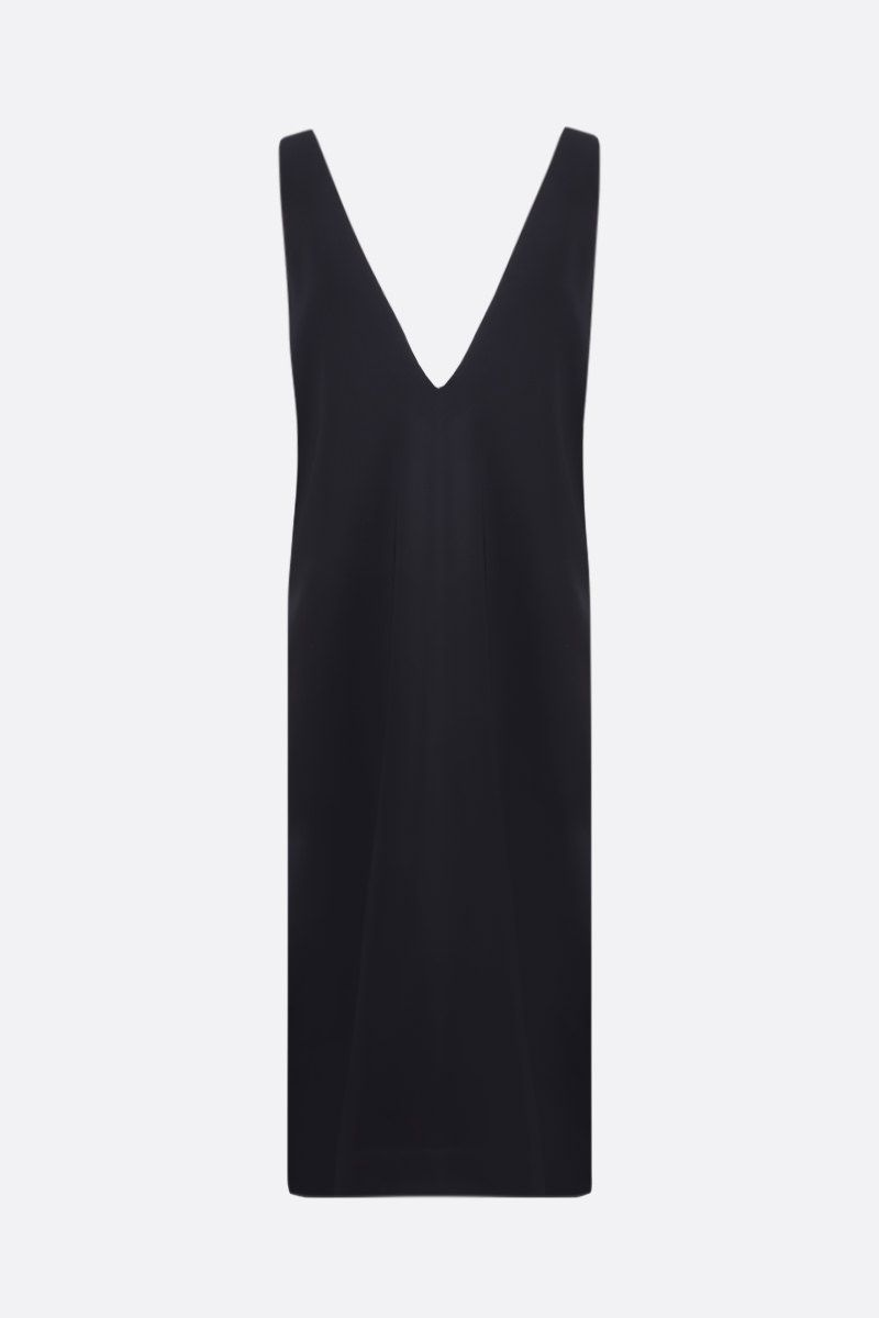 CO: stretch crepe sleeveless dress Color Black_1