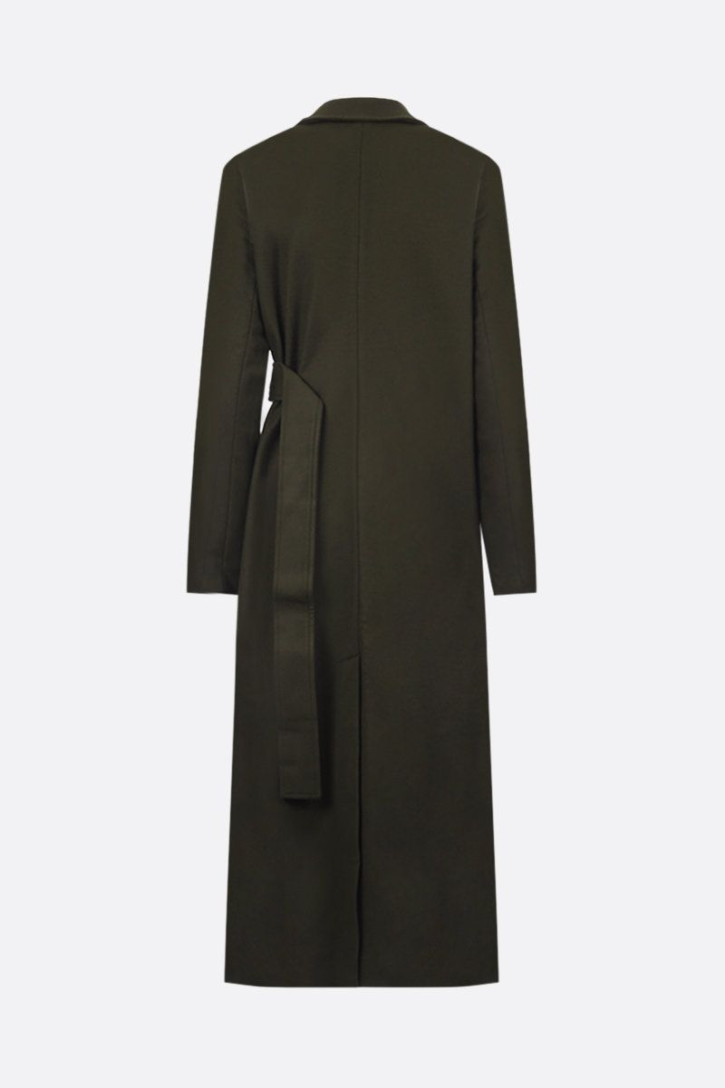 CO: wool cashmere blend wrap coat Color Green_2