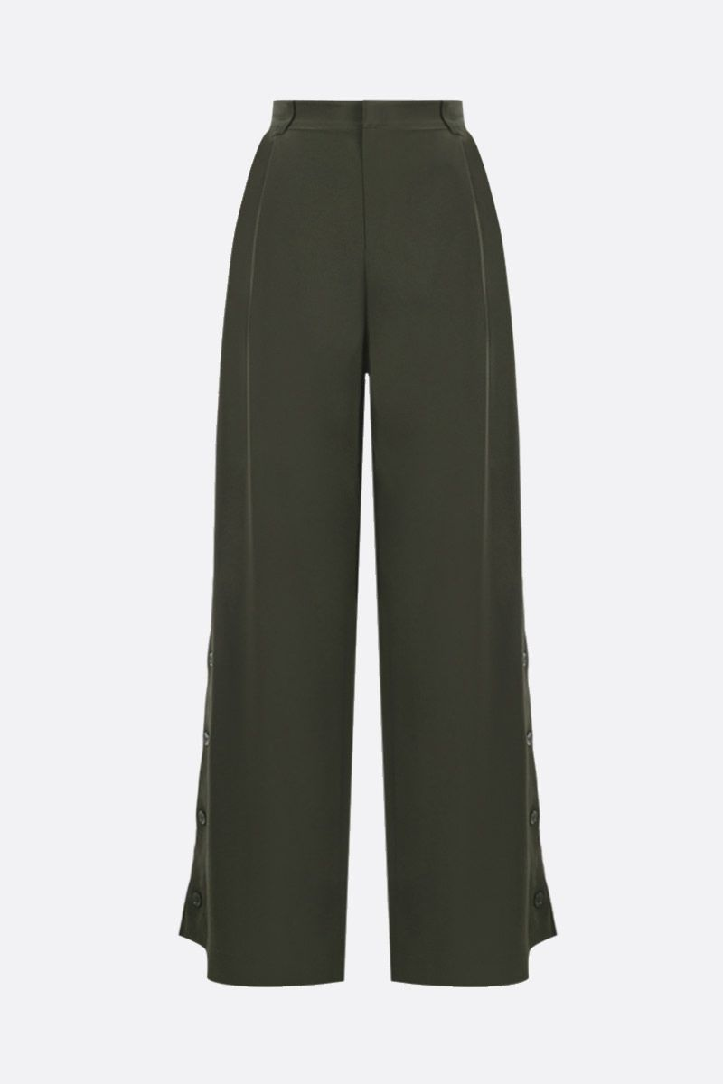 CO: button-detailed crepe wide-leg pants Color Green_1