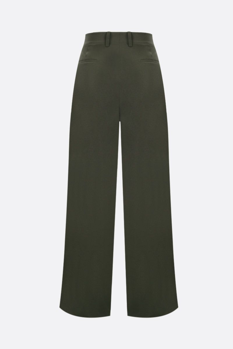 CO: button-detailed crepe wide-leg pants Color Green_2