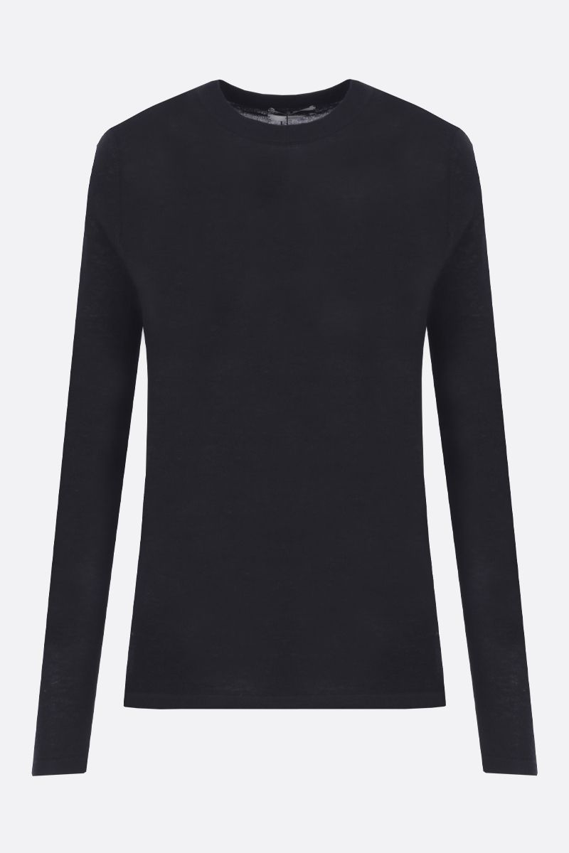 CO: lightweight cashmere pullover Color Black_1