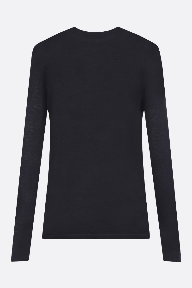 CO: lightweight cashmere pullover Color Black_2