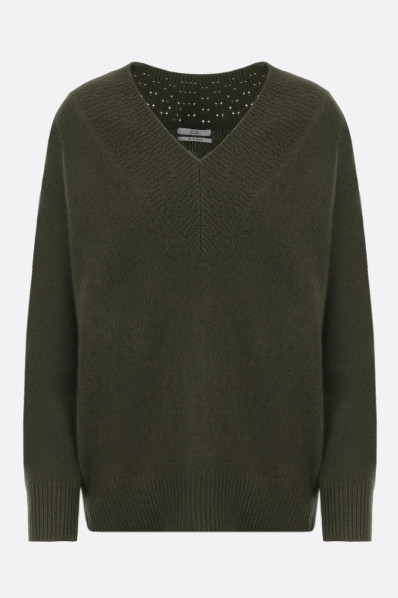 CO: pure cashmere pullover Color Green_1