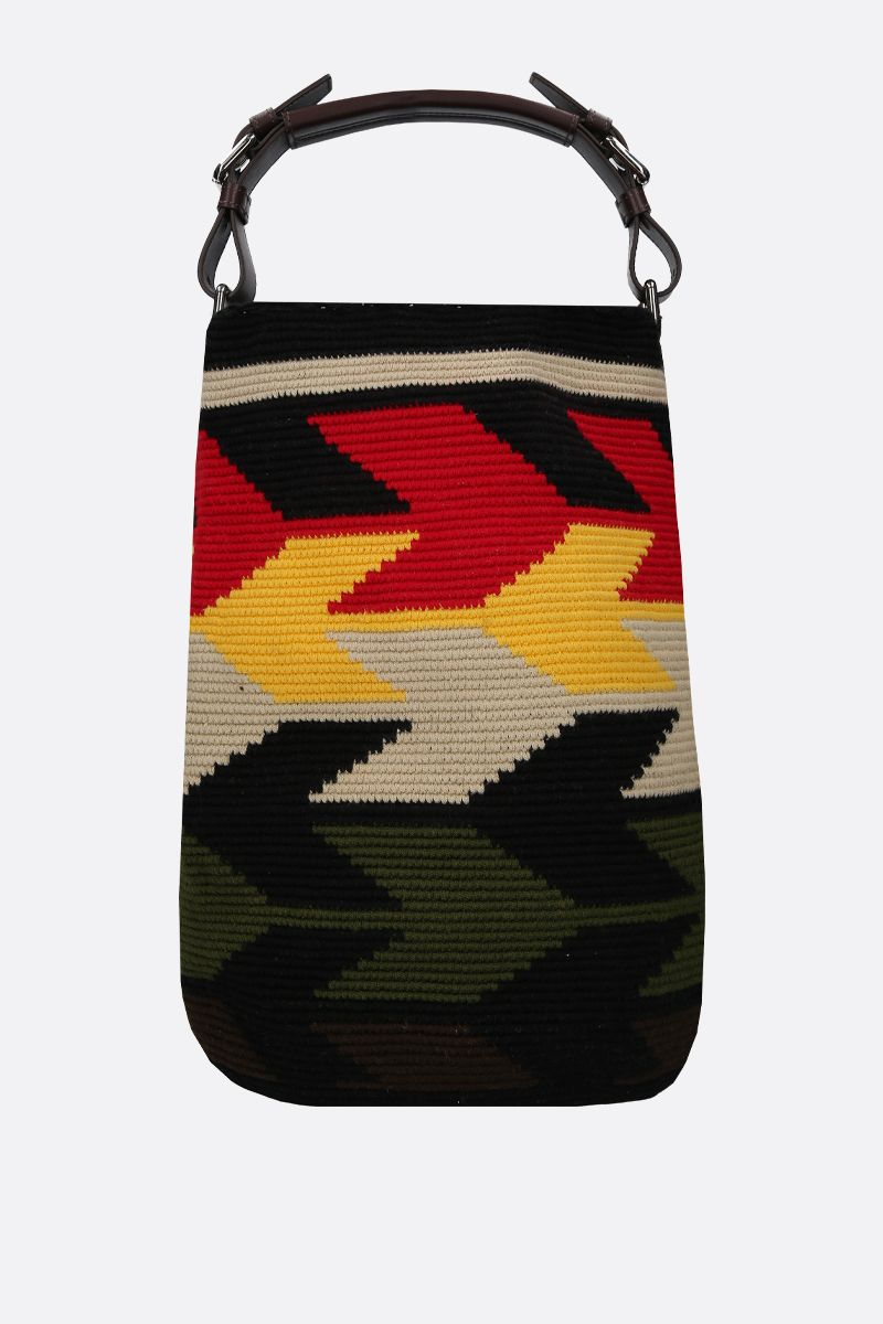 COLVILLE: handwoven canvas bucket bag Color Multicolor_1