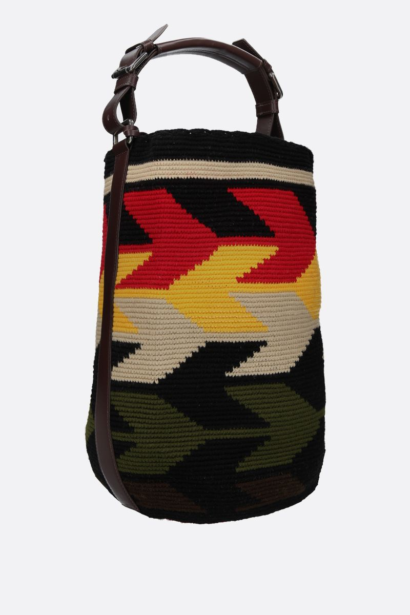 COLVILLE: handwoven canvas bucket bag Color Multicolor_2