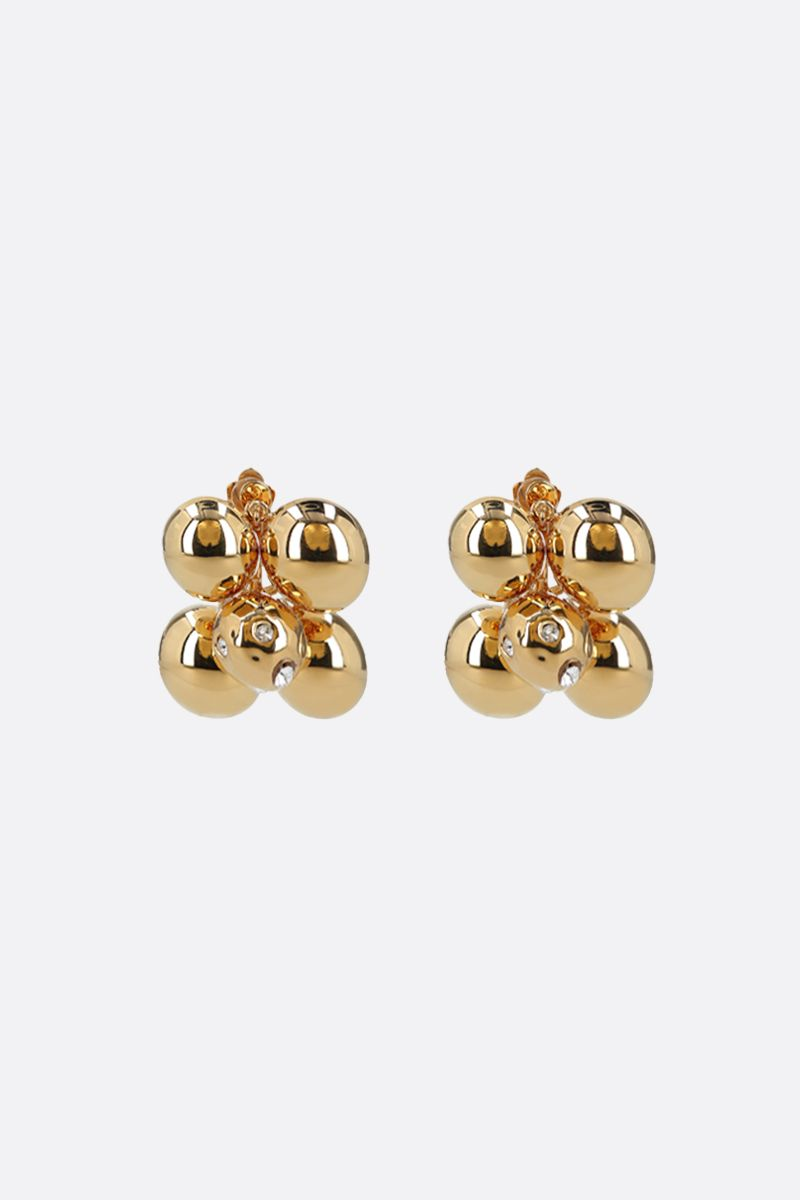 COLVILLE: crystal-embellished metal earrings Color Gold_1