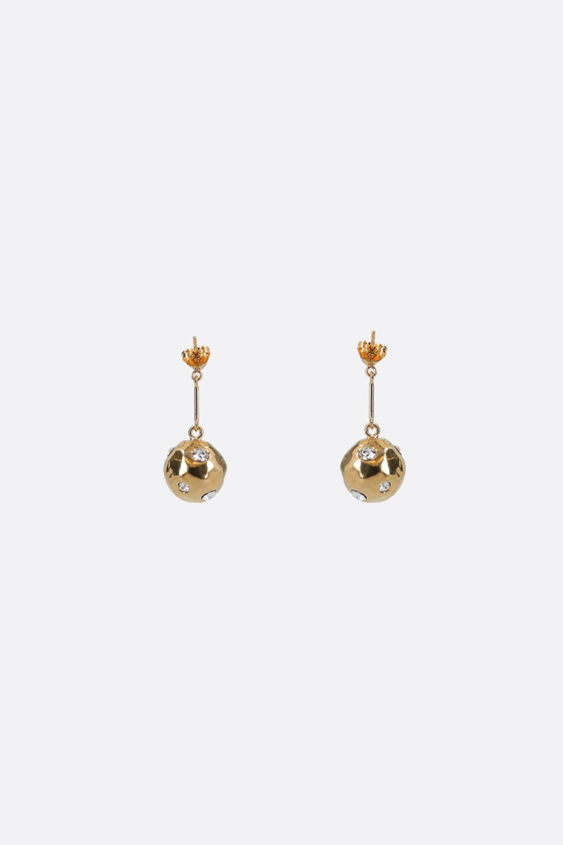 COLVILLE: crystal-embellished metal drop earrings Color Gold_1