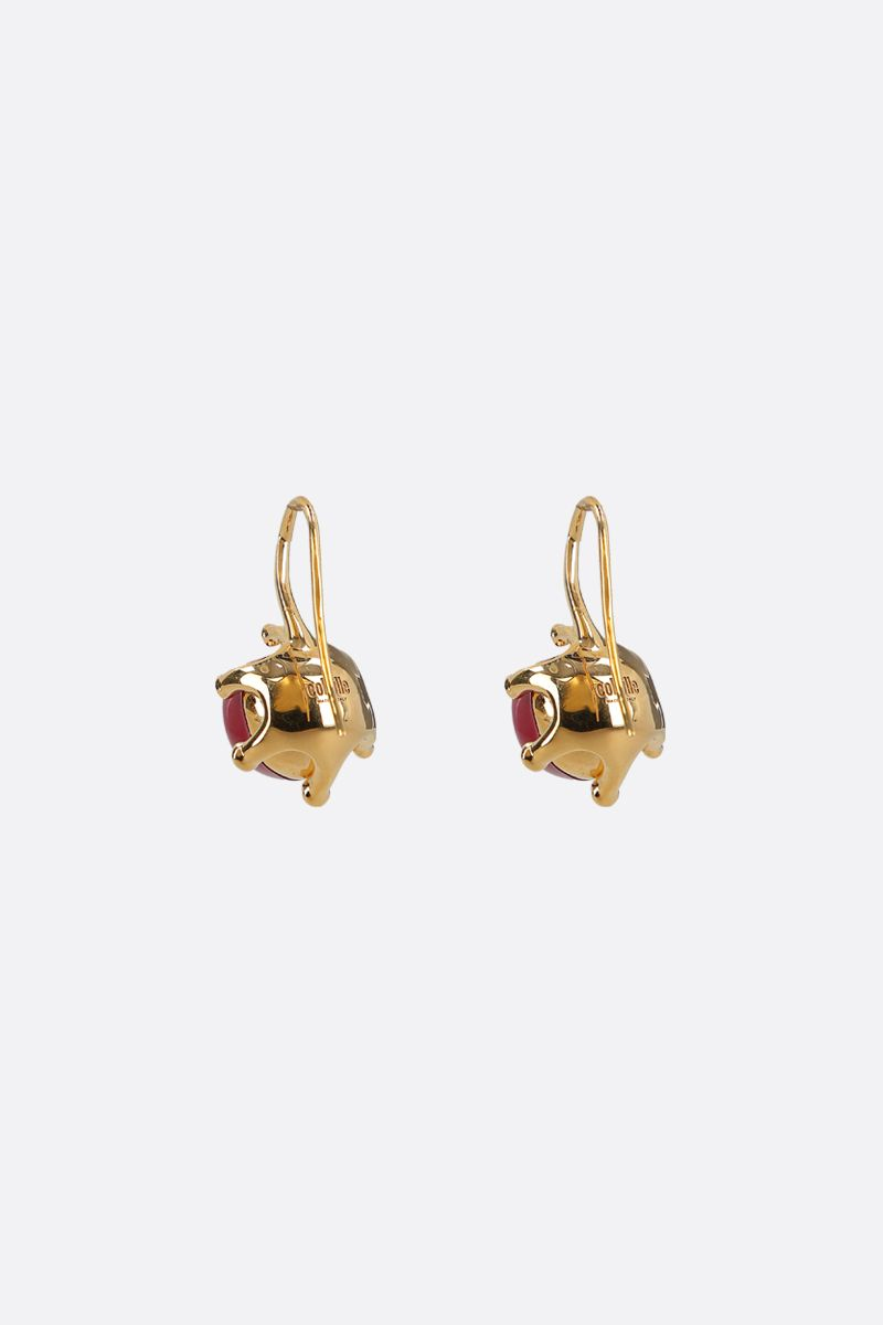 COLVILLE: metal and resin earrings Color Gold_2