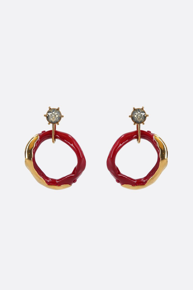 COLVILLE: metal and resin hoop earrings Color Multicolor_1