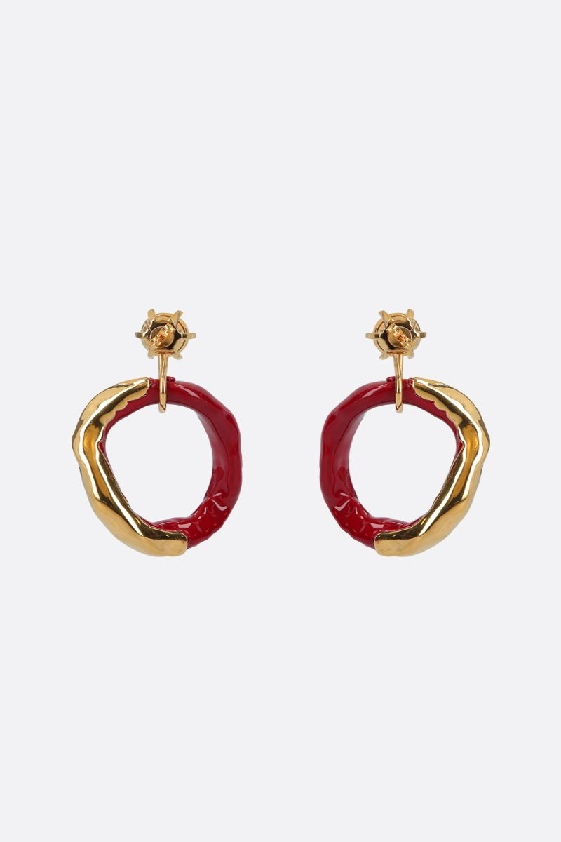 COLVILLE: metal and resin hoop earrings Color Gold_2