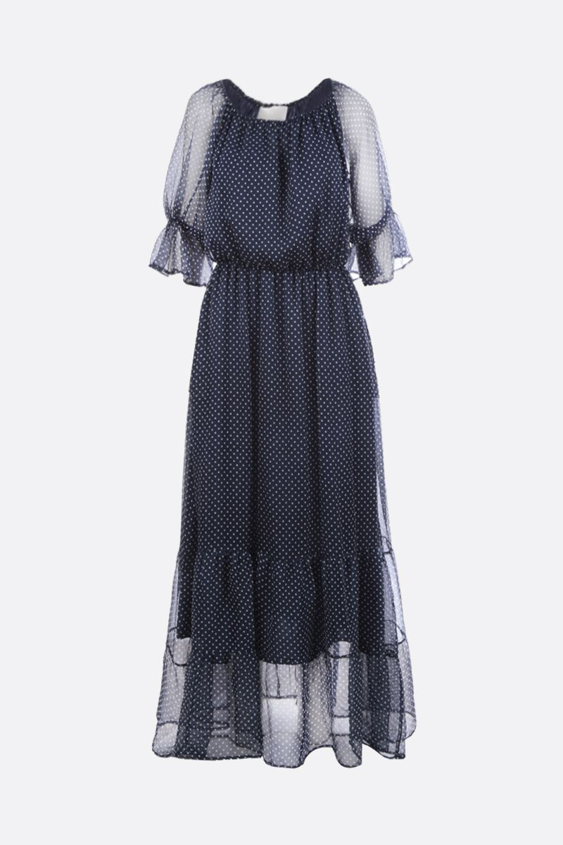 CRIDA: Ibiza chiffon long dress Color Blue_1