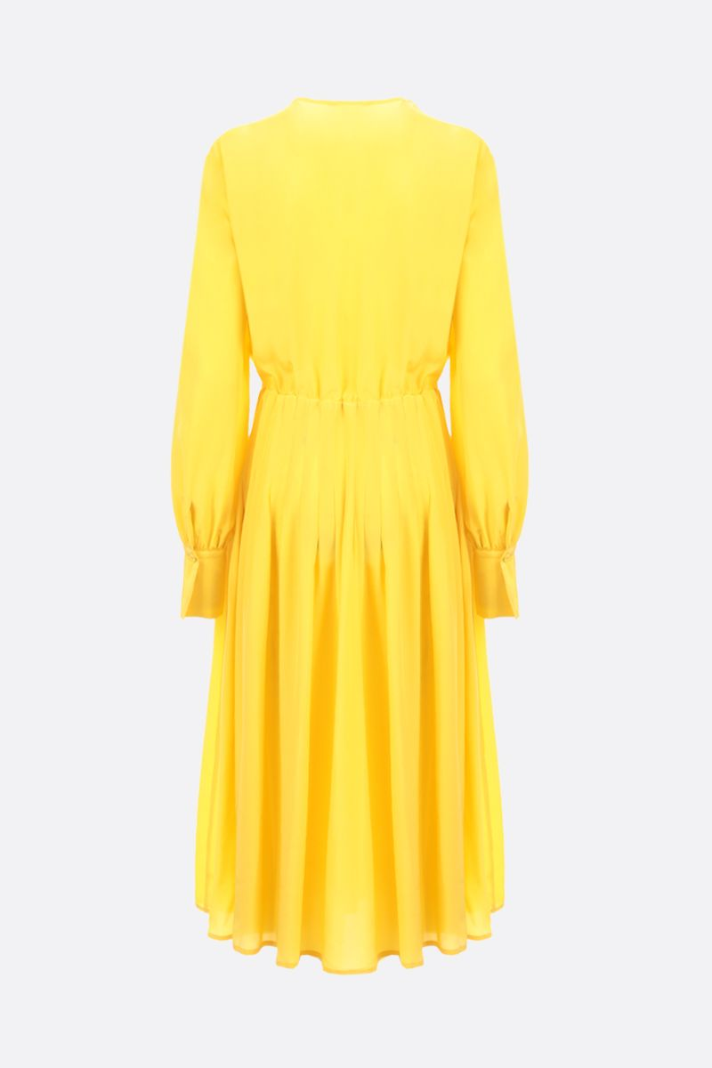 CRIDA: Firenze crepe de chine midi dress Color Yellow_2