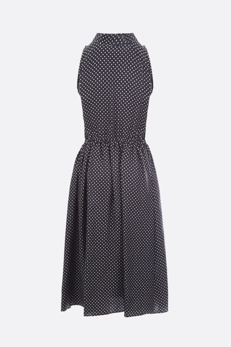 CRIDA: Taormina polka-dot silk sleeveless dress Color Black_2