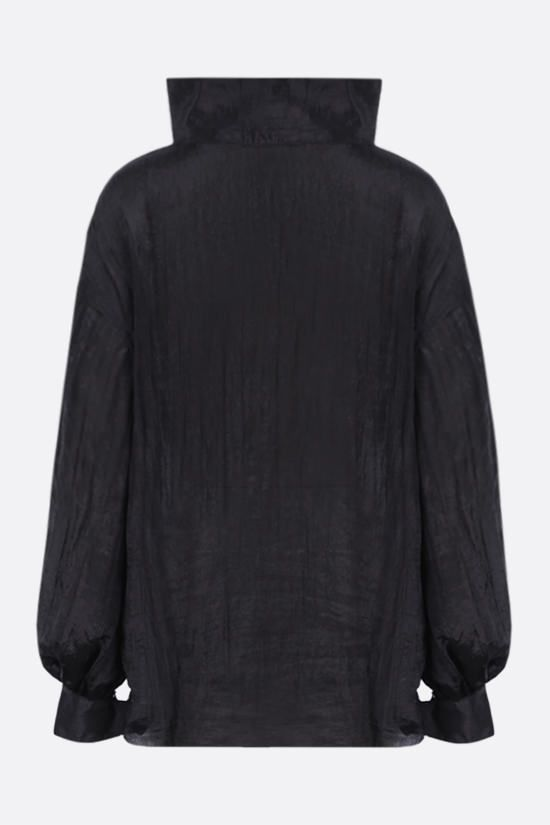DEVEAUX: Patricia crinkled-effect twill blouse Color Black_2