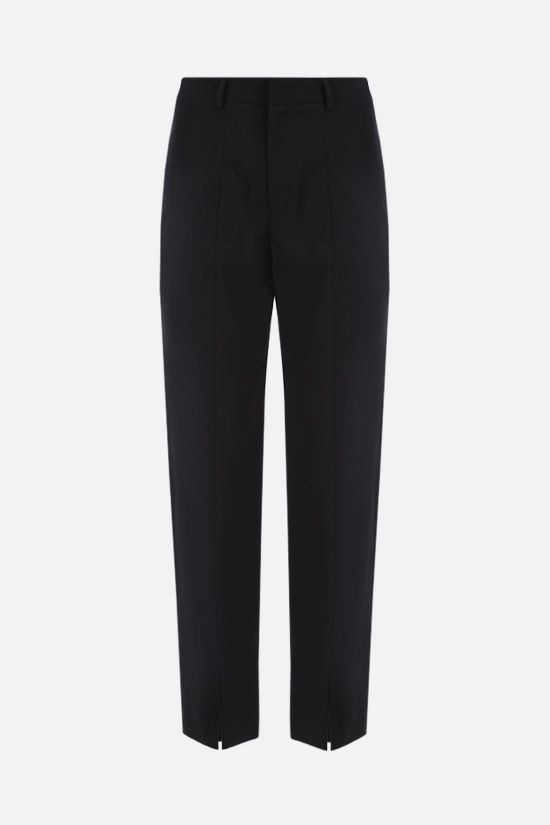 DEVEAUX: Piper straight-fit wool blend pants Color Black_1