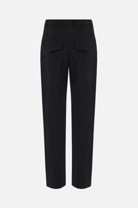DEVEAUX: Piper straight-fit wool blend pants Color Black_2