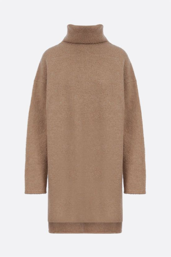 DEVEAUX: Yara wool cashmere blend pullover Color Brown_1