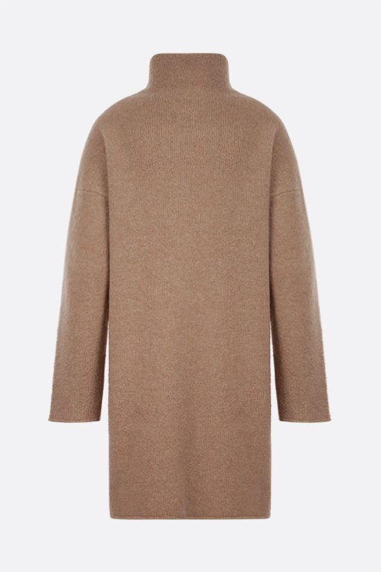 DEVEAUX: Yara wool cashmere blend pullover Color Brown_2