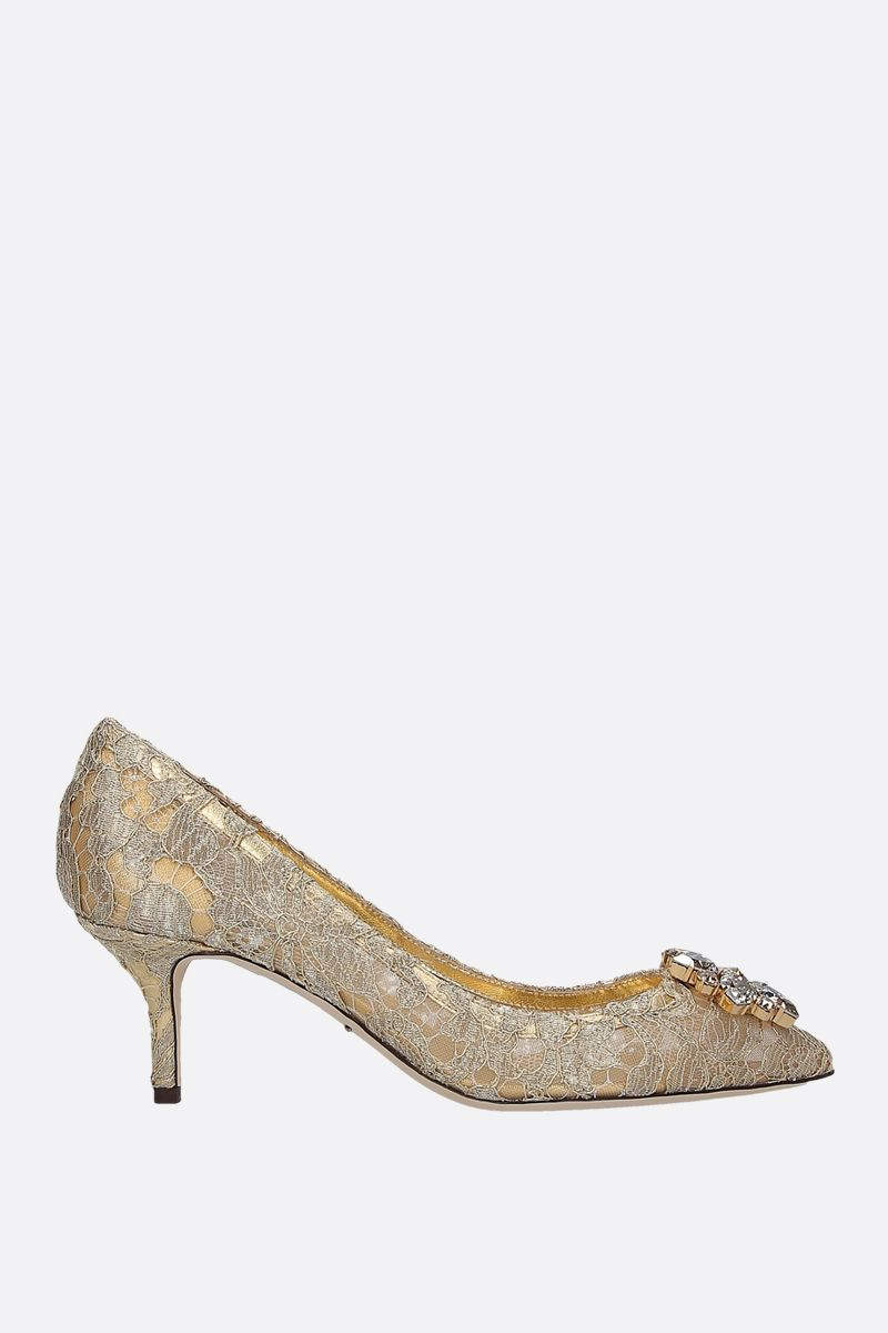 DOLCE & GABBANA: Bellucci pumps in Taormina lace Color Gold_1