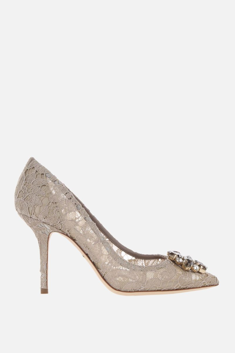 DOLCE & GABBANA: Bellucci Taormina lace pumps Color Neutral_1