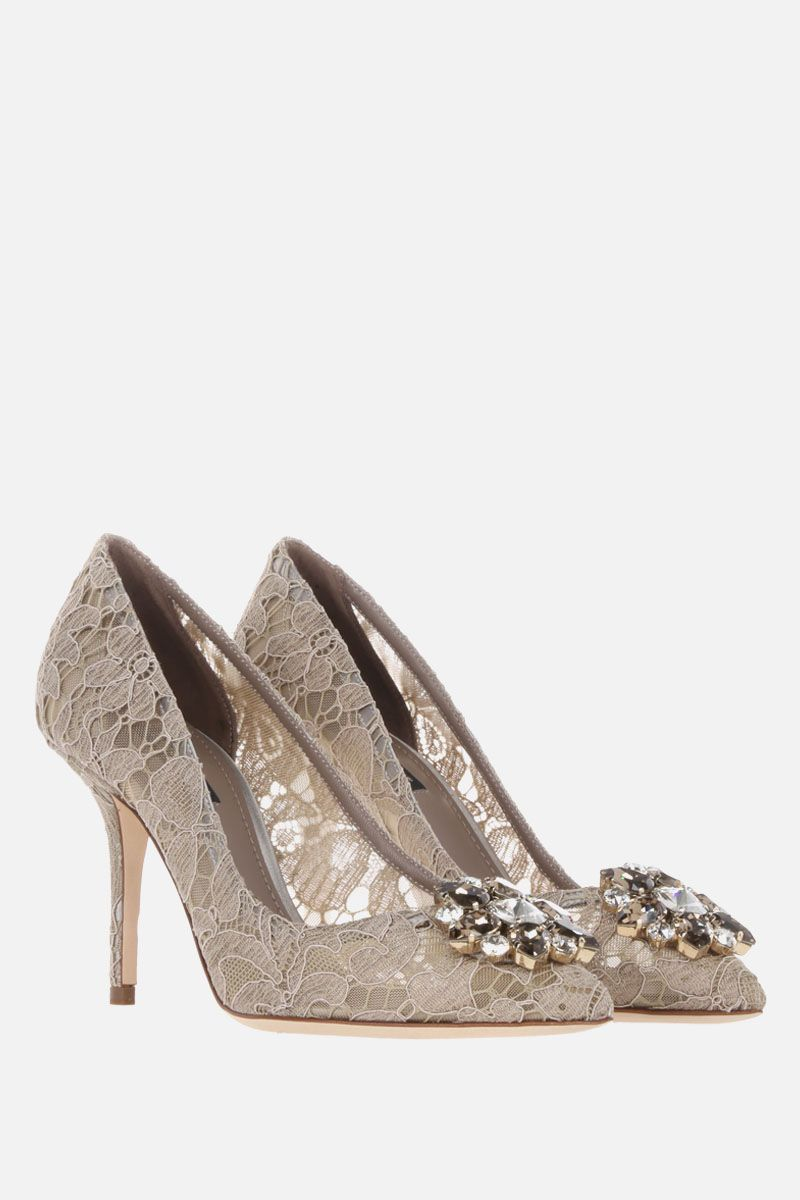 DOLCE & GABBANA: Bellucci Taormina lace pumps Color Neutral_2