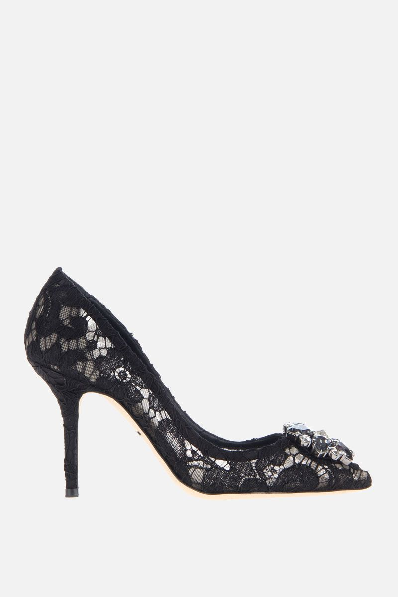 DOLCE & GABBANA: Bellucci Taormina lace pumps Color Black_1