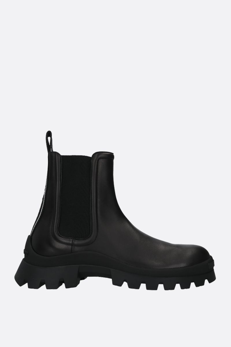 DSQUARED2: Tank Tape smooth leather combat boots Color Black_1
