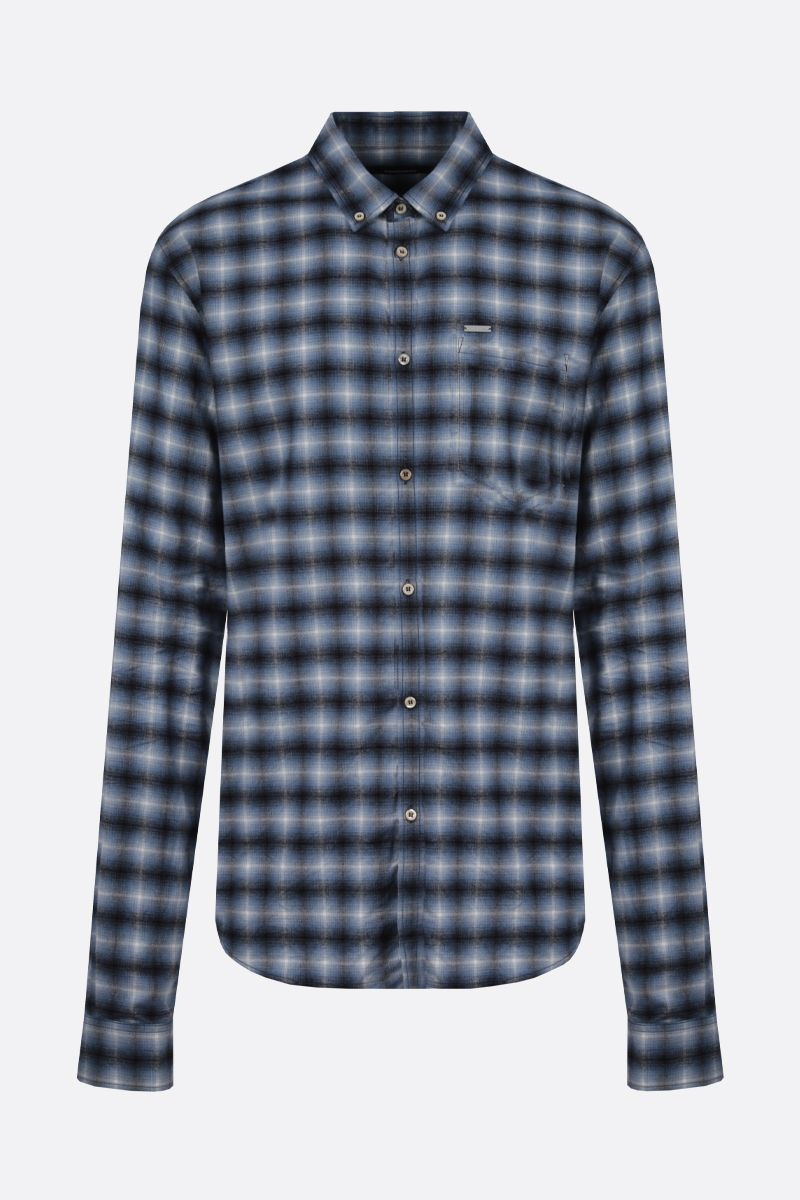 DSQUARED2: check flannel shirt Color Multicolor_1
