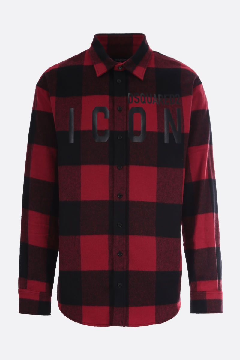 DSQUARED2: Dsquared2 Icon check flannel shirt Color Black_1