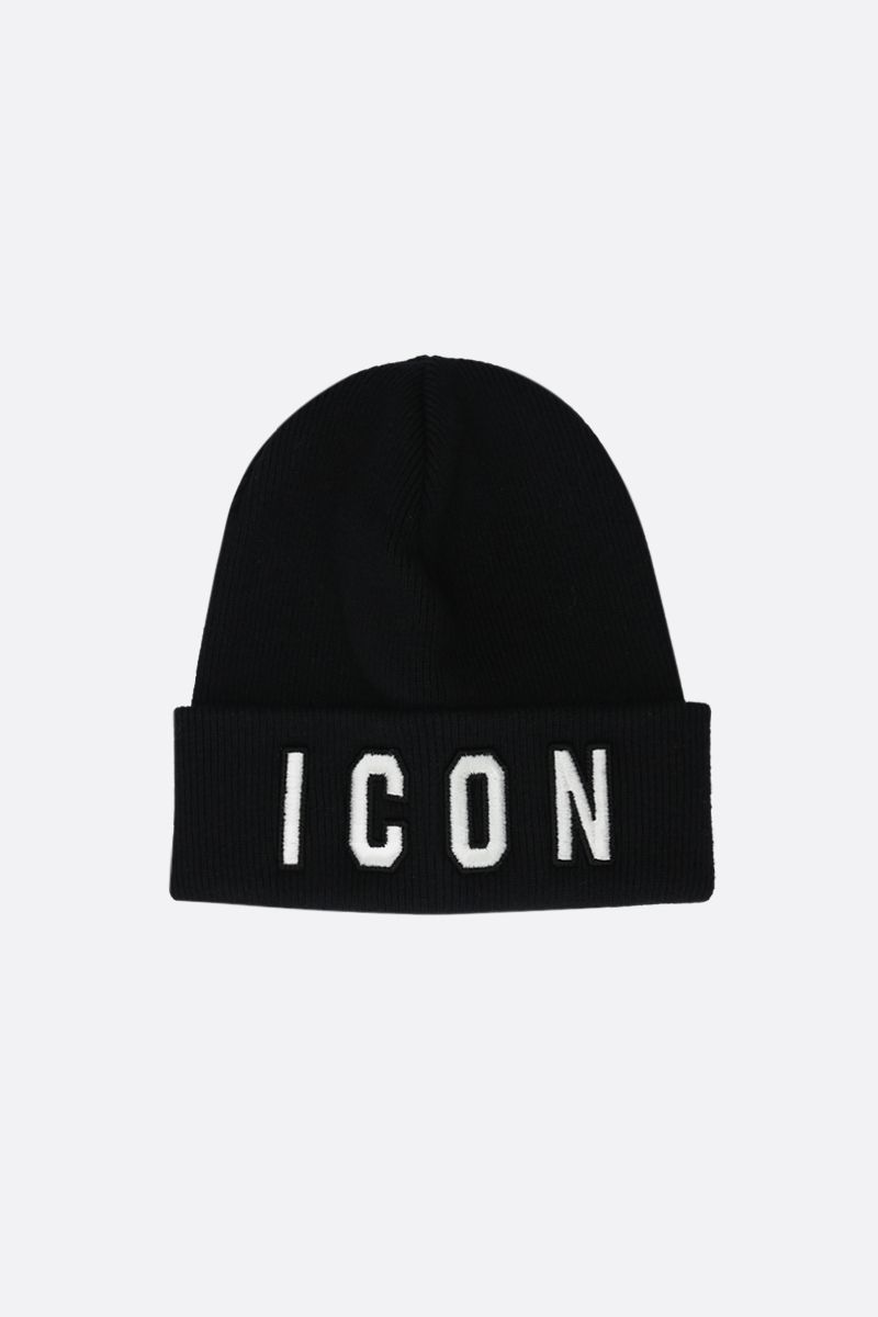 DSQUARED2: Icon wool beanie Color Black_1