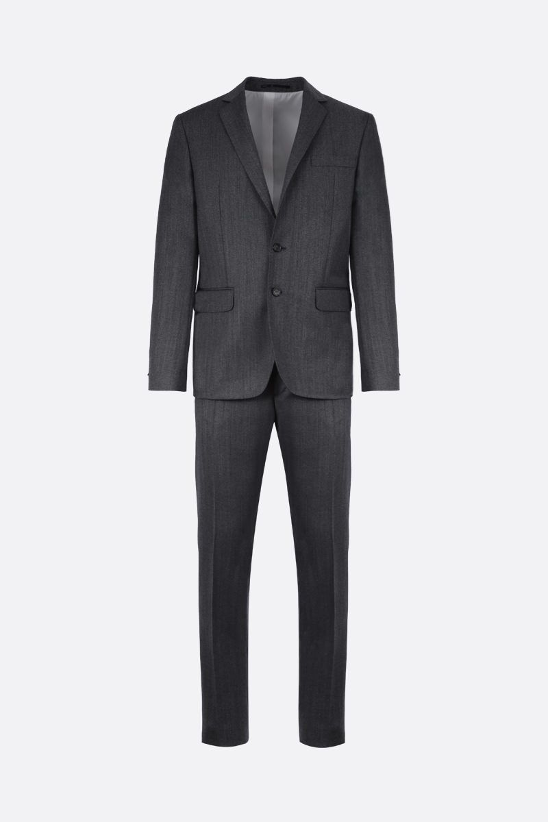 DSQUARED2: herringbone wool two-pieces suit Color Grey_1