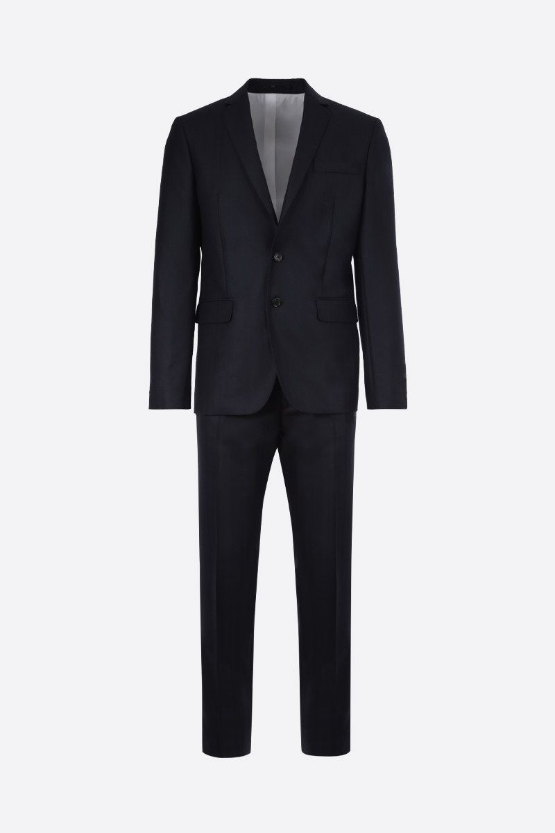DSQUARED2: herringbone wool two-pieces suit Color Blue_1