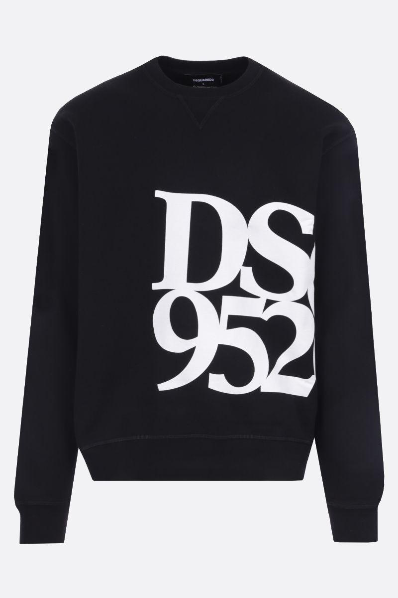 DSQUARED2: DSQ 9520 print cotton sweatshirt Color Black_1