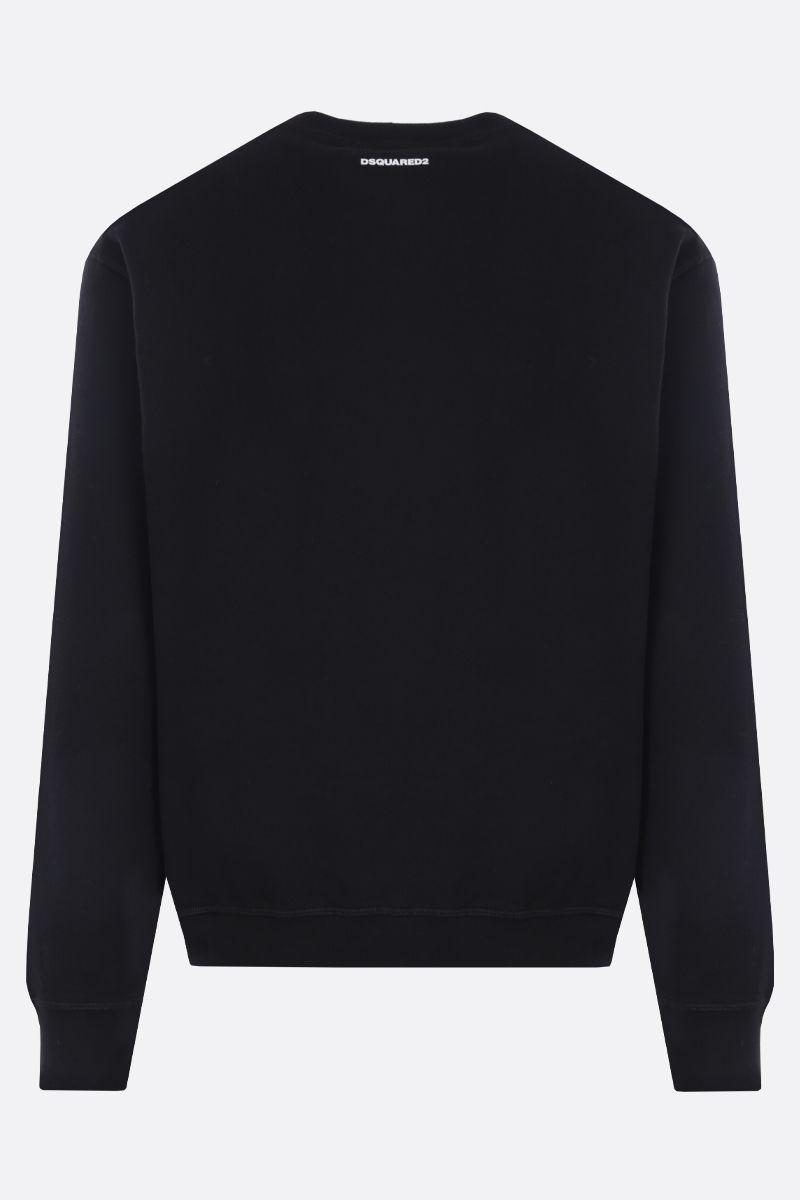DSQUARED2: DSQ 9520 print cotton sweatshirt Color Black_2