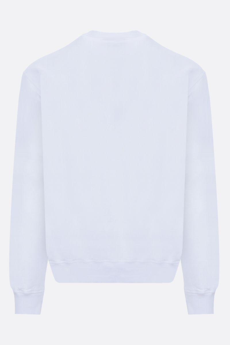 DSQUARED2: Dsquared2 Dean & Dan Caten print cotton sweatshirt Color White_2