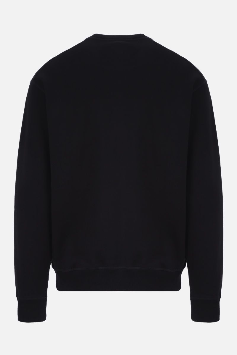 DSQUARED2: Dsquared2 Dean & Dan Caten print cotton sweatshirt Color Black_2