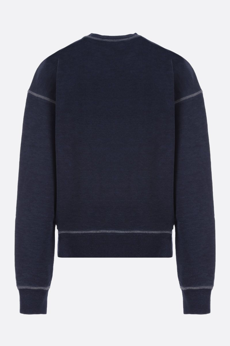 DSQUARED2: Dsquared2 patch cotton sweatshirt Color Blue_2