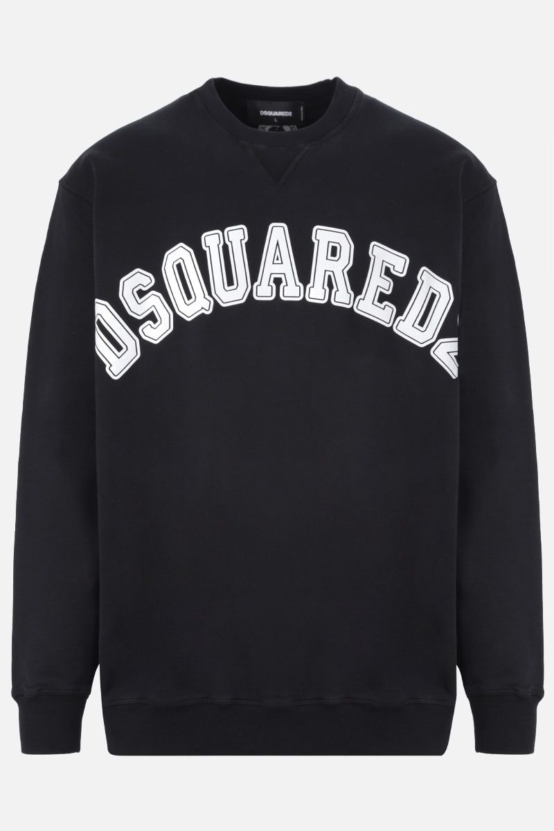 DSQUARED2: Dsquared2 print cotton sweatshirt Color Black_1