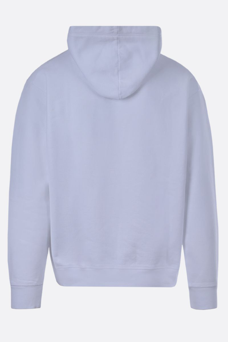 DSQUARED2: Dsquared2 Goal print cotton hoodie Color White_2