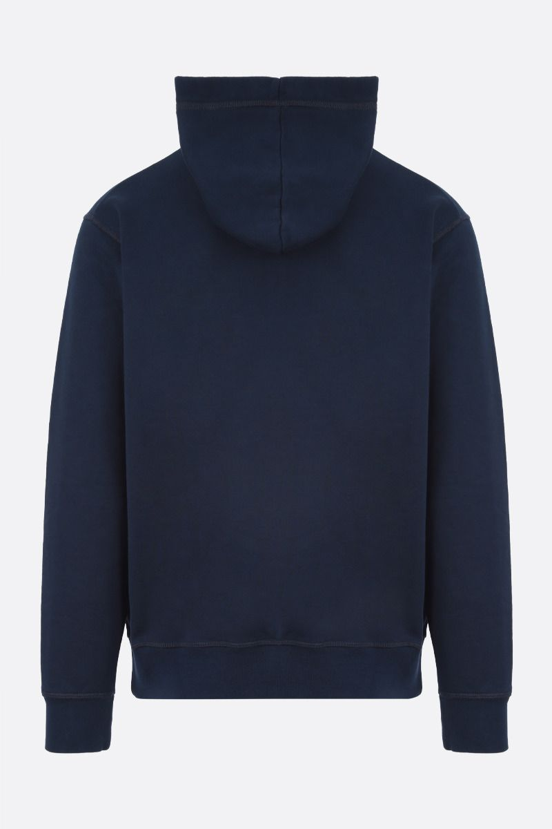 DSQUARED2: Dsquared2 Goal print cotton hoodie Color Blue_2