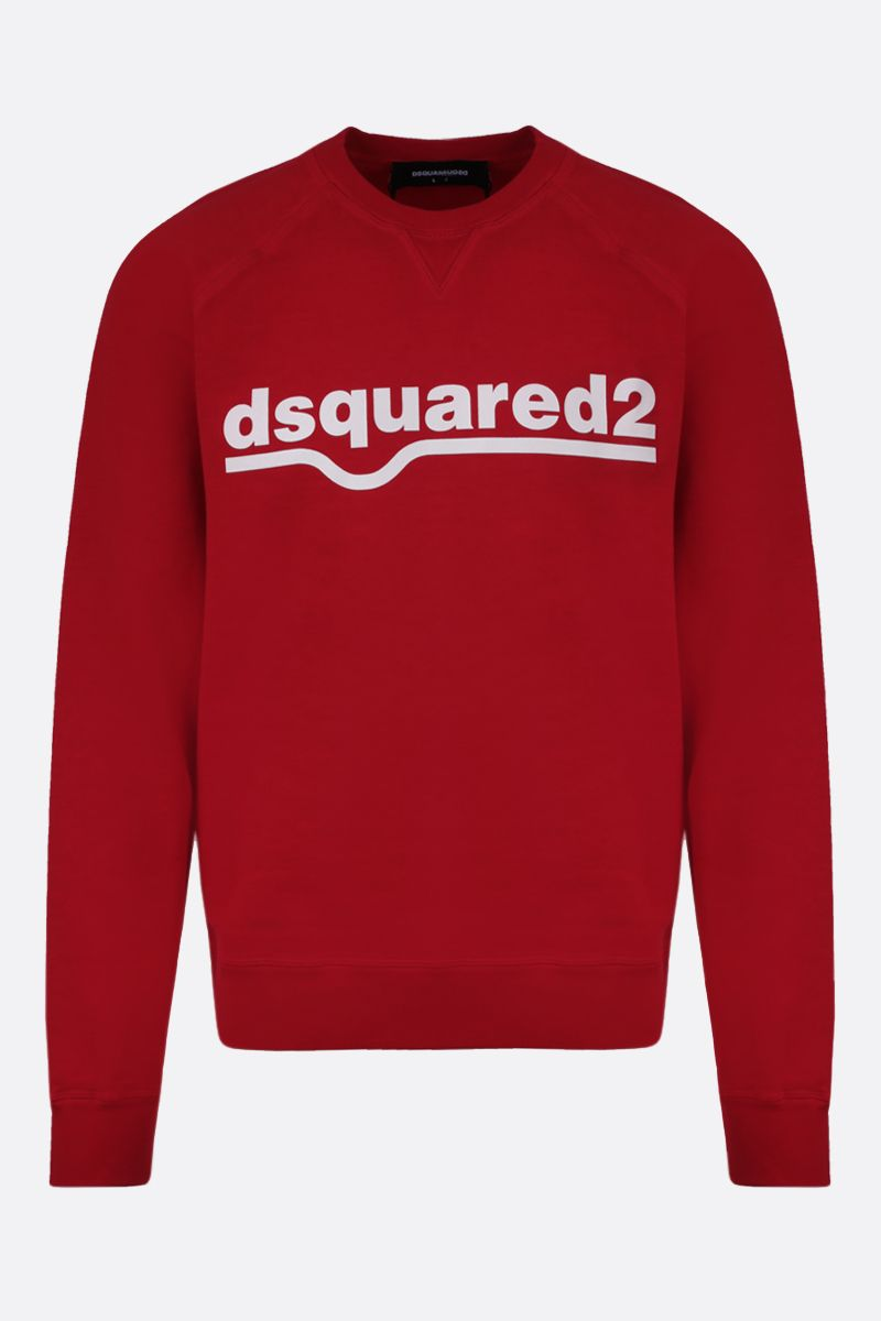 DSQUARED2: dsquared2 print cotton sweatshirt Color Red_1