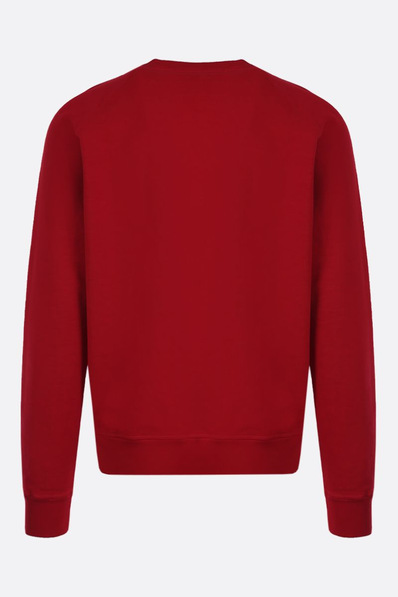 DSQUARED2: dsquared2 print cotton sweatshirt Color Red_2