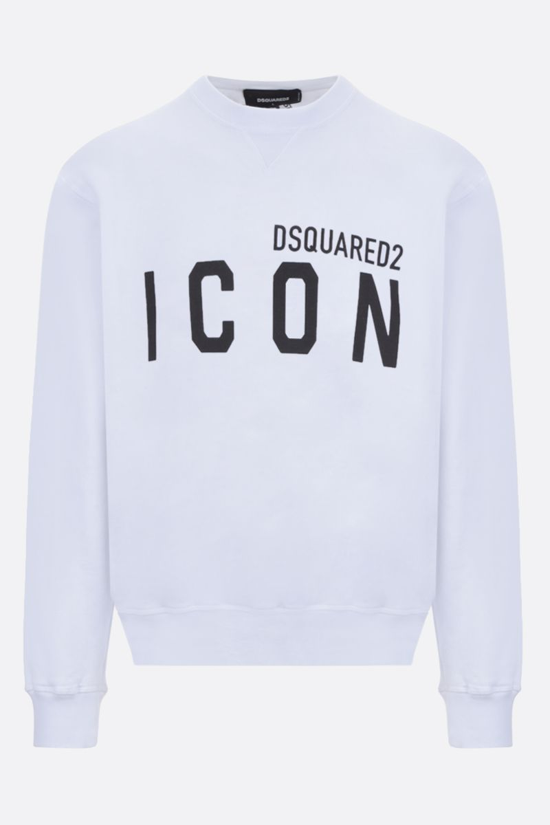 DSQUARED2: Dsquared2 Icon cotton sweatshirt Color White_1