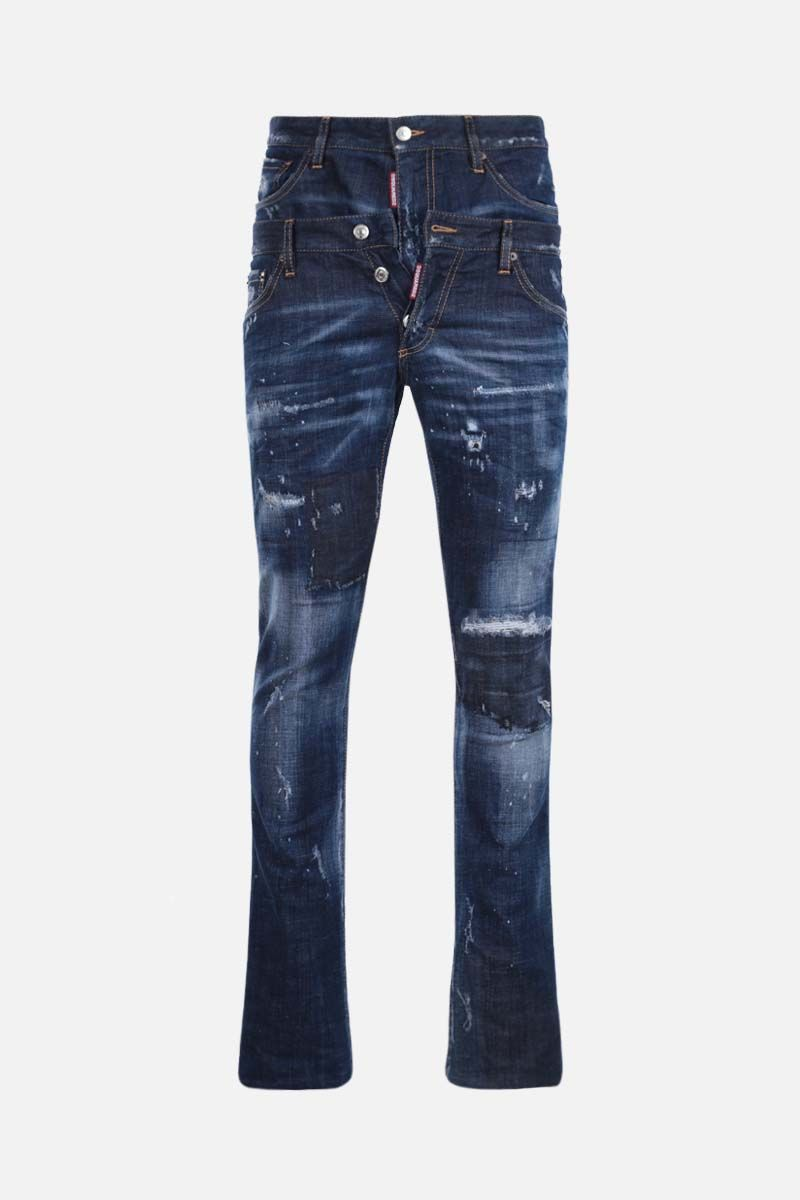 DSQUARED2: Sharpei straight-fit jeans Color Blue_1