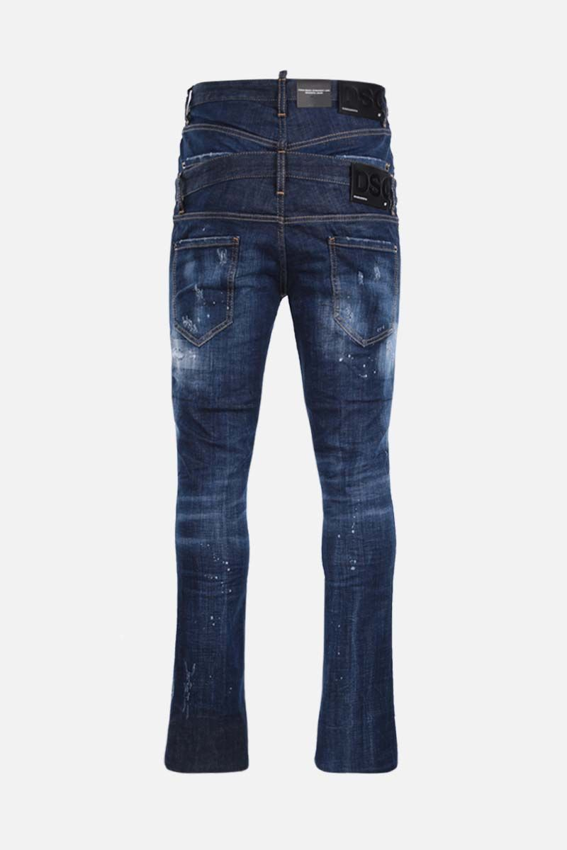 DSQUARED2: Sharpei straight-fit jeans Color Blue_2