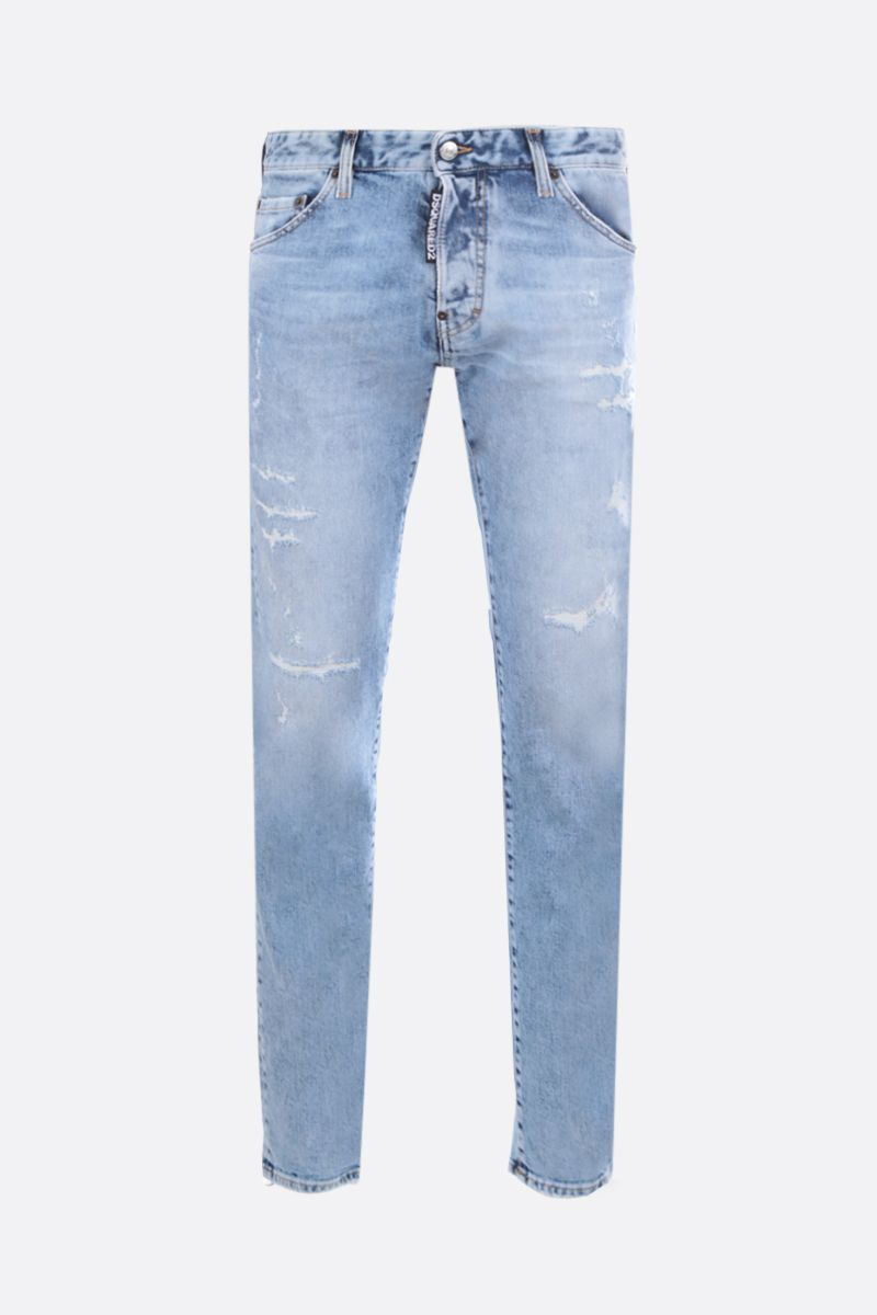 DSQUARED2: Cool Guy distressed-effect jeans Color Blue_1