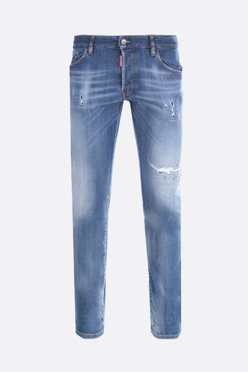DSQUARED2: Skater distressed-effect jeans Color Blue_1