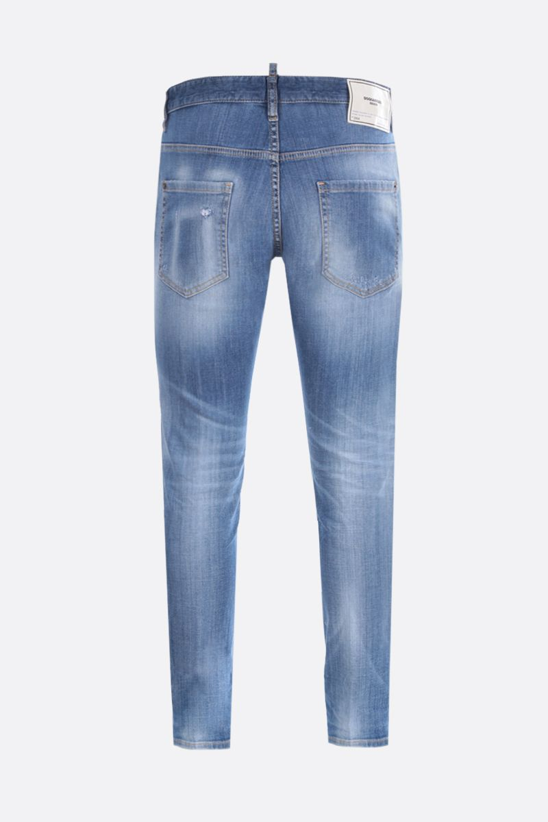 DSQUARED2: Skater distressed-effect jeans Color Blue_2