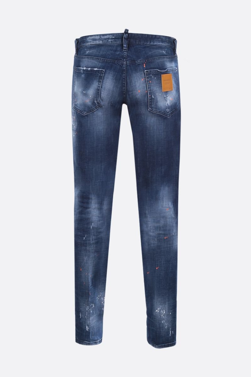 DSQUARED2: Slim distressed-effect jeans Color Blue_2